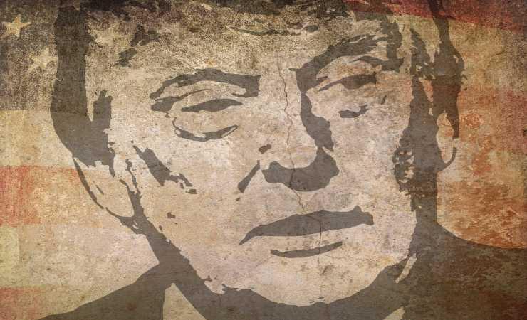 Trump disegno Gettr Hackerato (Pixabay)