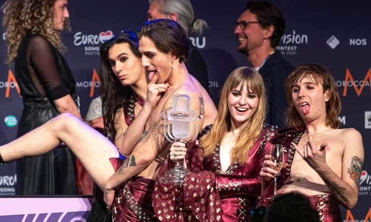 Vittoria dei Maneskin Eurovision 2021
