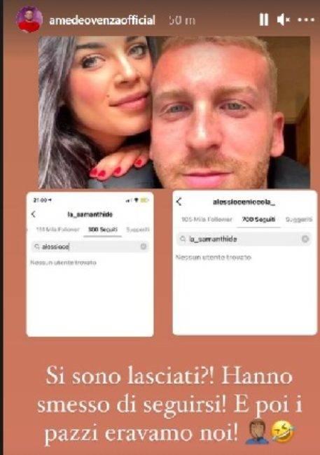 Uomini e Donne: Samantha e Alessio storia al capolinea? Ecco il gesto shock